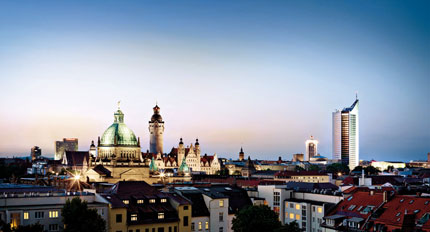 The skyline of Leipzig
