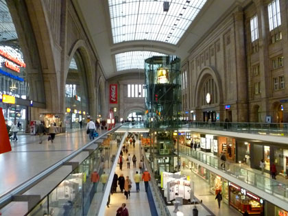 "Leipzig's colossal ""Hauptbahnhof"" (Central Station) was built in 1915"