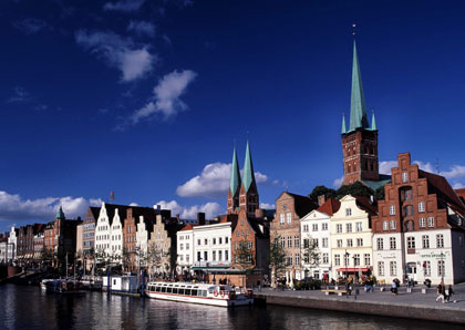 The Hanseatic City of Luebeck is situated on the river Obertrave