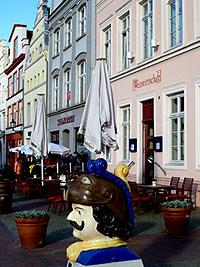 Wismar was occupied by the Swedes in the 17th century, which is evidenced in fun relics all over town