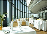 The dining room of Main Tower Restaurant & Bar in Frankfurt, Germany