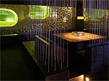 The dining room of Micro in the Cocoon Club in Frankfurt, Germany