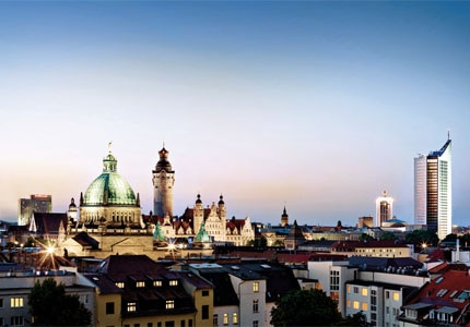 The skyline of Leipzig, the German city Goethe dubbed Little Paris