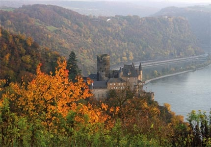 Burg Katz in Rhine Valley, Germany