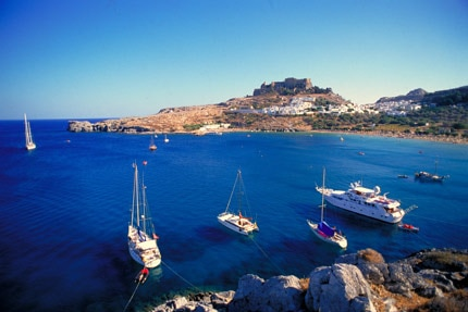 The Greek island of Rhodes, one of GAYOT's Top New Year's Eve Destinations