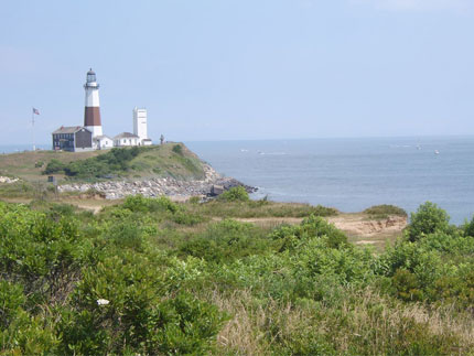 On a clear day, from the top of the Montauk Point Light House in the Hamptons, you can see all the way to Rhode Island