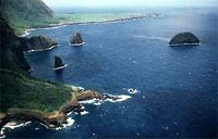 The remote and beautiful Kalaupapa Peninsula National Historic Park on the island of Molokai in Hawaii