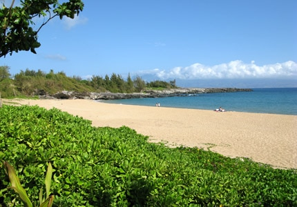 One of the beautiful beaches on Maui in Hawaii