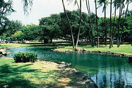 Kapiolani Park, one of the many parks Barack Obama frequented while growing up in Hawaii
