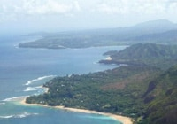 A view of Kauai's coastline, as seen aboard one of Jack Harter's helicopters