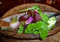 An artfully prepared salad at Josselin's Tapas Bar & Grill