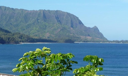 Hanalei Bay on the unspoiled North Shore of Kauai, one of our Top 10 Romantic Destinations