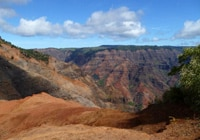 The colorful walls of Waimea Canyon