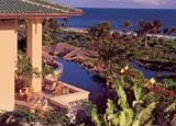 Beautiful views from the balcony of of the Grand Hyatt Kauai Resort and Spa