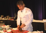 Mark Tarbell preparing lobster at the 26th annual Kapalua Wine & Food Festival