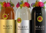 Three bottles of Maui Rums