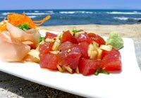 Poke by the seashore