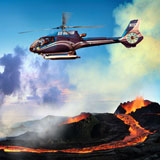 View the Big Island's lava flows, black sand beaches and lush rainforests from above with Blue Hawaiian Helicopters