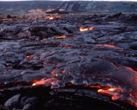 Slow-moving lava at Kilauea in Hawaii