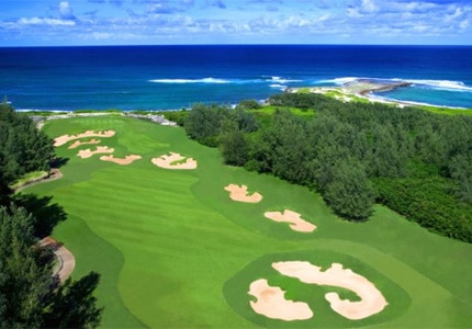 The Palmer Course at Turtle Bay Resort on Oahu, one of GAYOT's Top 10 Golf Courses in Hawaii