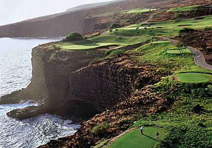 Hole 12 at The Challenge at Manele, one of GAYOT's Top 10 Golf Courses in Hawaii
