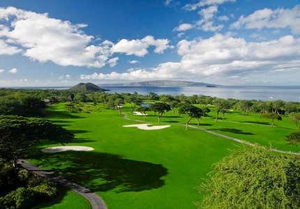 The 15th hole on the Wailea Gold Course at the Wailea Golf Club in Hawaii
