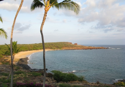 Lanai's white-sand Hulopoe Beach, one of our Top 10 Beaches in Hawaii
