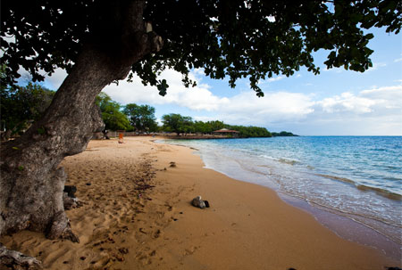 A white sand beach in Kawaihae, one of our Top 10 Beaches in Hawaii