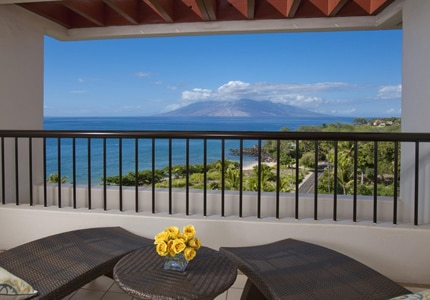 Enjoy the stunning view from one of the guest rooms at Makena Beach & Golf Resort