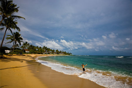Poipu Beach Park, located on Kauai's South Shore, offers everything from skimboarding to deep-sea fishing
