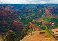 Waimea Canyon State Park on Hawaii's Kauai island is nicknamed the Grand Canyon of the Pacific