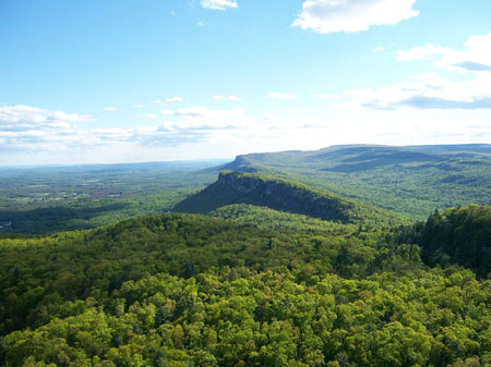 Shawangunk Ridge visible from near Mohonk Mountain House