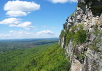The Mohonk Preserve is surrounded by the Shawangunk Mountains