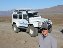 Alain Gayot exploring Iceland by Jeep