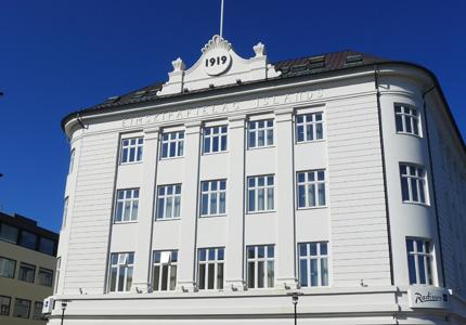 The Radisson Blu 1919 Hotel in Reykjavik, Iceland