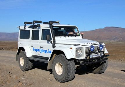 Jeep tours are a popular way of exploring the Icelandic countryside
