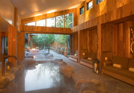 The Immersion Pool at The Cove Spa at Shore Lodge in McCall, Idaho