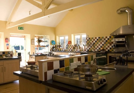 Inside the kitchen at the Belle Isle School of Cookery
