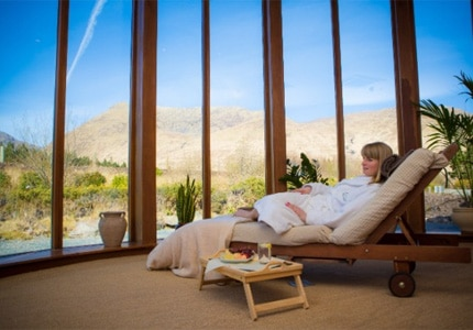 The Delphi Mountain Resort & Spa offers services such as Organic Facials, Holistic Massages, and Seaweed Baths