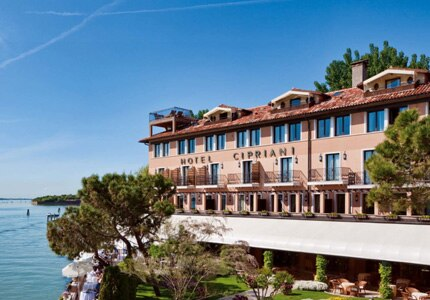 Enjoy incredible views at Belmond Hotel Cipriani in Venice, Italy