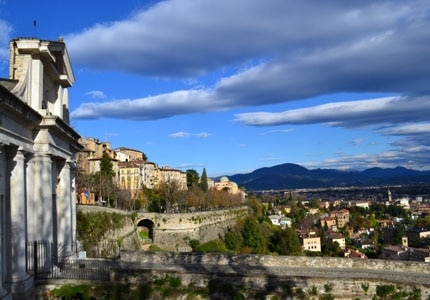 The foothills of the Alps begin in the northern part of Bergamo