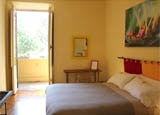 A guest room at The Beehive in Rome