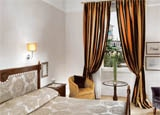 A guest room at Hotel Eden in Rome