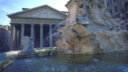 The 16th-cenutry Fontana del Pantheon was constructed by Filippo Barigioni
