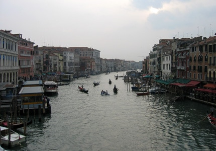 There are more than 400 bridges that connect the canals of Venice