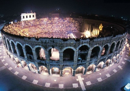 The Arena Verona presents several grand opera performaces annually