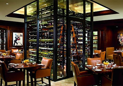 The dining room of enoSTEAK at the Ritz-Carlton Laguna Niguel in California