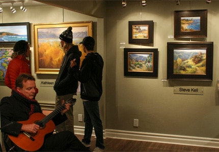 The First Thursday Art Walk in Laguna Beach, California