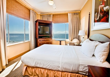 A guest room at Hotel Laguna in California