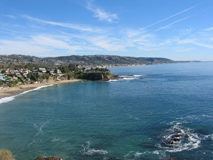One of the picturesque beaches in Laguna Beach, a city also called California's Riviera